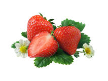 Fresh strawberry. Isolated on a white background Stock Images