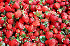 Fresh strawberry background Stock Images