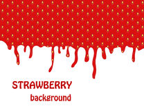 Fresh Strawberry background Stock Photos