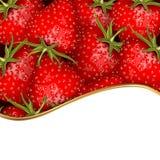 Fresh strawberry background Stock Photo