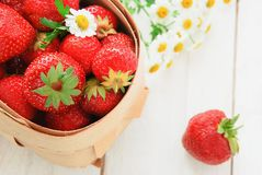 Fresh strawberry in a basket Stock Photo