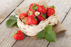 Fresh strawberry in basket Stock Images