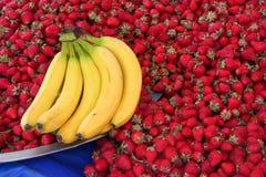 Fresh strawberry at bazaar Stock Photos