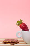 Fresh strawberry with biscuits Royalty Free Stock Photo
