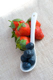 Fresh strawberry and blueberry Royalty Free Stock Images