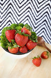 Fresh strawberry in bowl Royalty Free Stock Photography