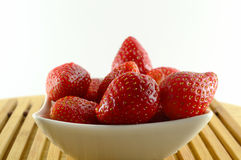 Fresh strawberry in the bowl Stock Images