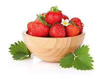 Fresh strawberry bowl Royalty Free Stock Photos