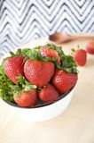 Fresh strawberry bowl Royalty Free Stock Image