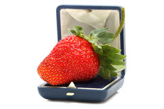 Fresh strawberry in a box Stock Photos