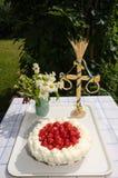 Fresh strawberry cake Royalty Free Stock Photo