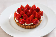 Fresh Strawberry cake. Strawberry tart Royalty Free Stock Photography