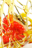 Fresh Strawberry with Caramel Stock Photography