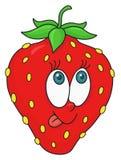 Fresh strawberry cartoon Stock Photography