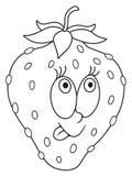 Fresh strawberry cartoon Royalty Free Stock Photography