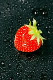 Fresh strawberry, close-up Royalty Free Stock Images