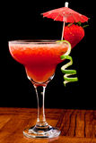 Fresh strawberry cocktail Stock Image
