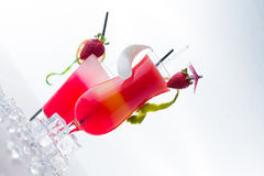 Fresh strawberry cocktail Stock Photos