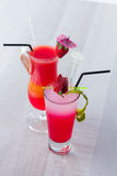 Fresh strawberry cocktail Royalty Free Stock Images