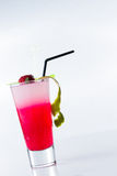 Fresh strawberry cocktail over white Royalty Free Stock Images