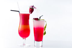 Fresh strawberry cocktail over white Royalty Free Stock Photo