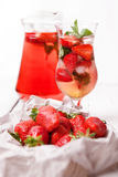 Fresh strawberry cooling drink Stock Photography