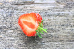 Fresh strawberry cut in half Stock Photography