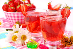 Fresh strawberry drink Royalty Free Stock Images