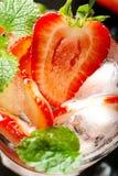Fresh strawberry drink Stock Photos