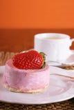 Fresh strawberry fancy cake Royalty Free Stock Image