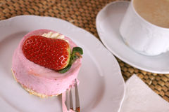 Fresh strawberry fancy cake Royalty Free Stock Photo
