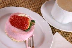 Fresh strawberry fancy cake Royalty Free Stock Photo