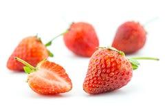 Fresh strawberry, friut. On white background stock photo