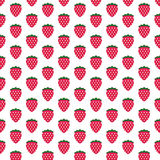 Fresh Strawberry Fruit Graphic pattern Stock Photography