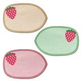 Fresh Strawberry Fruit Graphic tag Royalty Free Stock Image