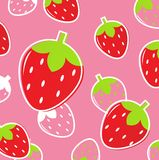 Fresh Strawberry Fruit pattern or background Stock Photo