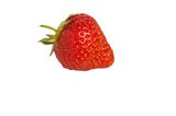 Fresh strawberry fruit in summer. Ripe strawberry isolated on white fresh for wimbledon royalty free stock images