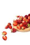 Fresh strawberry fruit on white background. Stock Photo