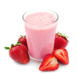 Fresh strawberry fruits and smoothies Stock Photos