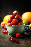 Fresh strawberry and fruits Stock Photos
