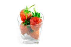 Fresh strawberry in glass Royalty Free Stock Photos