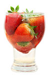 Fresh strawberry in glass Stock Image
