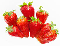 Fresh strawberry handful Royalty Free Stock Images