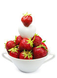 Fresh strawberry and heart Royalty Free Stock Photography