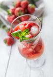 Fresh strawberry homemade cocktail Stock Photography
