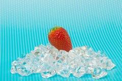 Fresh strawberry on ice Royalty Free Stock Image