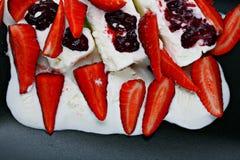 Fresh strawberry ice cream dessert Royalty Free Stock Photo