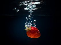 Fresh Strawberry In Water Royalty Free Stock Image