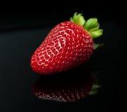 Fresh strawberry isolated (macro) Royalty Free Stock Image