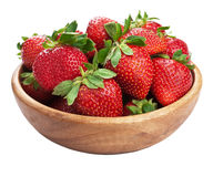 Fresh strawberry isolated Stock Image